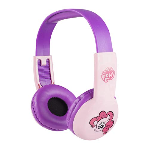 Sakar HP2-03057 My Little Pony Kid Safe Headphones - Style May Vary, Comfortable Ear Cushions and Headband, Kid-Safe Technology, Adjustable Headband, Full Range Stereo Sound, Pink ()