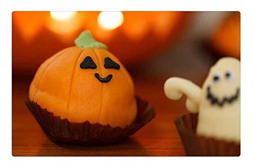 (Indoor Floor Rug/Mat (23.6 x 15.7 Inch) - Sweet Food Halloween Dessert Holiday Orange Treat)