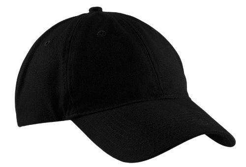 Port & Company - Brushed Twill Low Profile Cap. - Black - OSFA ()