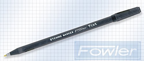 Fowler Full Warranty 52-730-005-0 Disposable Metal Etching Pen, Black Tint, 6.25'' Length