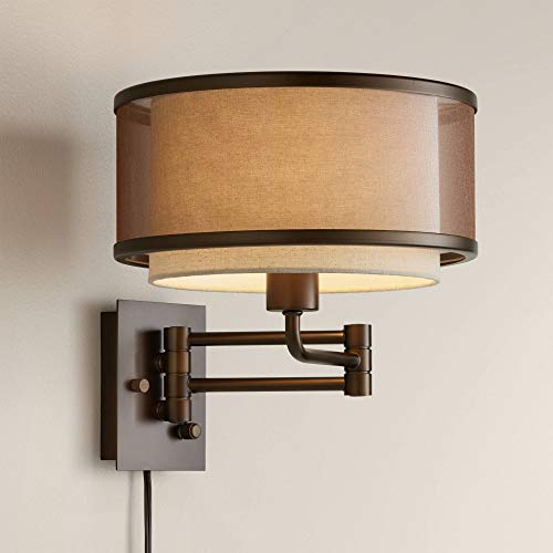 Vista Oil-Rubbed Bronze Plug-in Swing Arm Wall Lamp - Franklin Iron Works