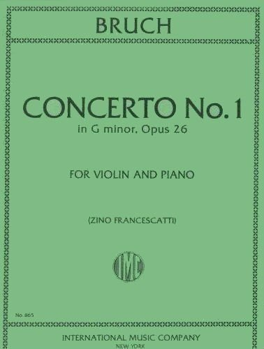 Bruch, Max - Concerto No 1 in g minor Op. 26 for Violin and Piano - by Francescatti - International