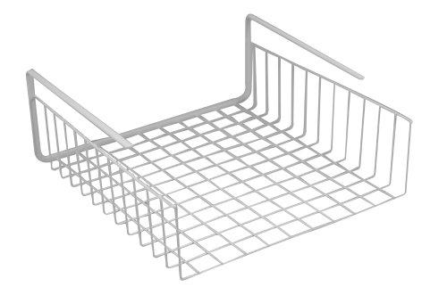 - Southern Homewares SH-10025 Shelf Basket Wire Wrap Rack Storage Organizer for Kitchen Pantry, 12-1/2 by 5-Inch, White, One Size,