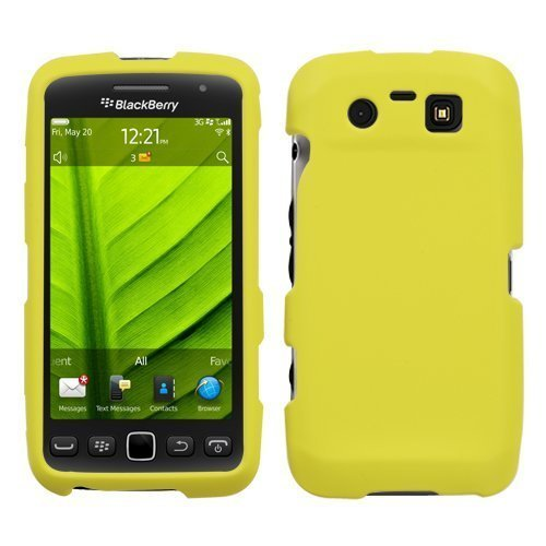 Yellow Phone Protector Faceplate Cover(Rubberized) For RIM BLACKBERRY 9850(Torch), 9860(Torch) ()