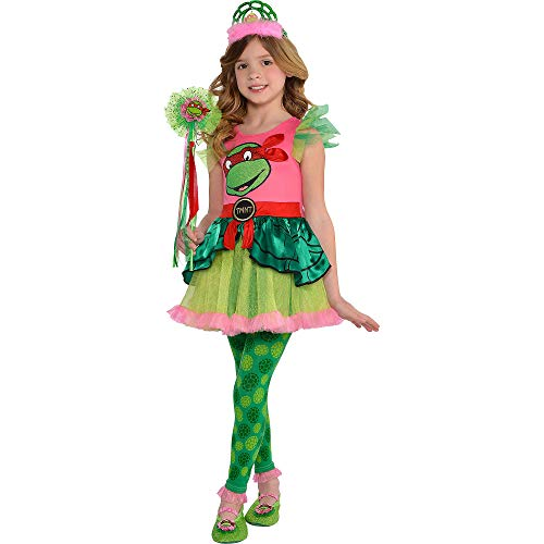 Amscan Teenage Mutant Ninja Turtles Tutu Dress for Girls, One Size, with Included Accessories -