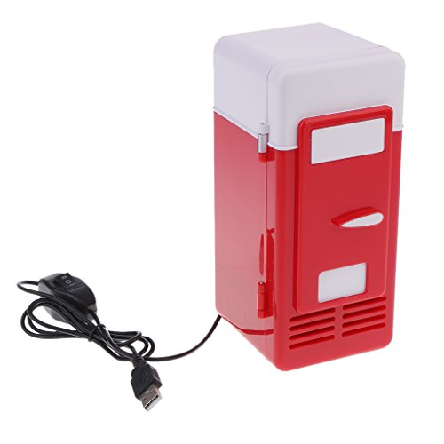 Baosity Small Electric Fridge Heat And Cool Multifunction USB Red NEW Car - Multifunction Electrodes