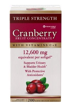 Vitamin World Triple Strenght Cranberry Fruit Concentrate 12,600 mg 200 softgels