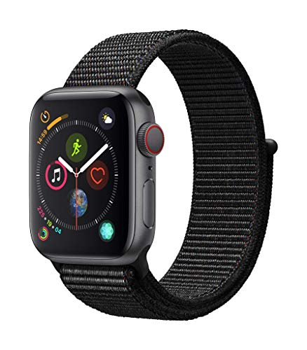 AppleWatch Series4 (GPS+Cellular, 40mm) - Space Gray Aluminum Case with Black Sport Loop