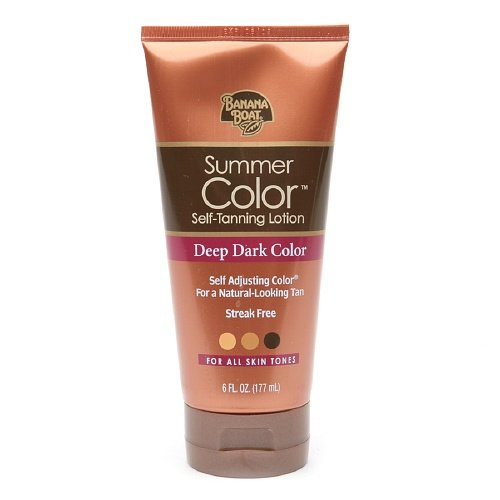 Banana Boat Sunless Summer Color Self Tanning Lotion,, Deep Dark 6 fl o (Pack of 1)