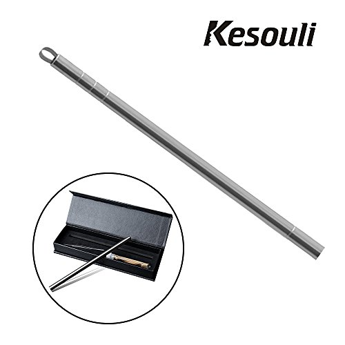 Hair Cutting Tool, Kesouli Stainless Steel Magic Engraved Stick for Kinds of DIY Hair Design, Art Design Tool for Hair, Beard and Eyebrow