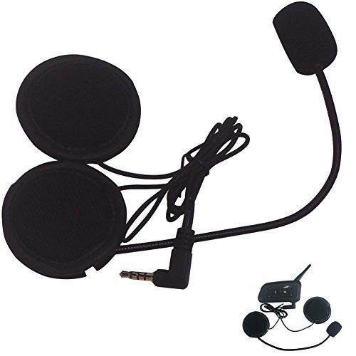 Intercom Microphone & Headset + Helmet Clip, Evary V6 Bluetooth Interphone Accessories Replacement Parts(2 ()