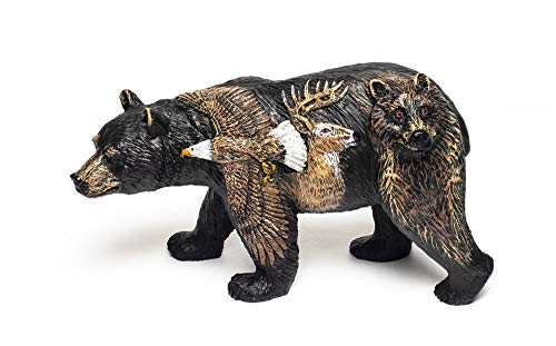 (Bear Country 3d Bear with Deer Eagle and Wolf Figurine Statue Bcewb)