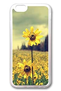 Brian114 6 Case, iPhone 6 Case - Flexible Extremely Thin Rubber Cases for iPhone 6 Sunflowers Under Light 2 Ultimate Protection Clear Soft Rubber Case for 4.7 Inches iPhone 6