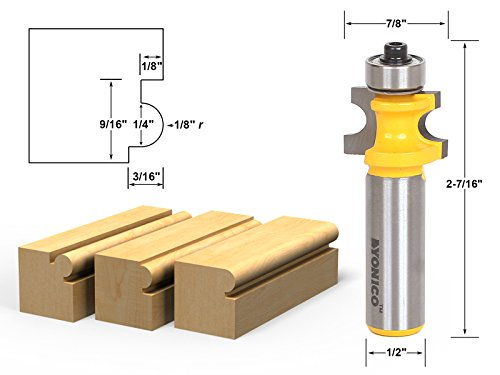 (Yonico 13191 Bullnose Beading Router Bit 1/8