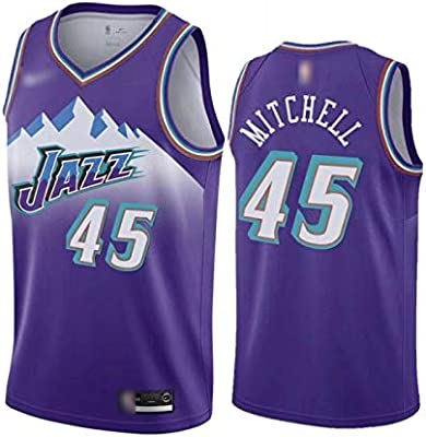 sports shoes 09505 7f81b Basketball Jersey Donovan Mitchell #45 High Quality Mesh ...