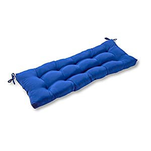 Greendale Home Fashions 44-Inch Indoor/Outdoor Swing/Bench Cushion, Marine Blue