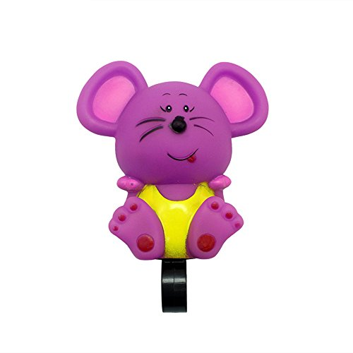 (DRBIKE Purple Mouse Bell for Kids Bike, Rubber Bike Horn for Girls & Boys, Cute Bike Squeeze Horn for Kids Tricycle, Walker, Scooter, Kids Bike, Horn Toy for)