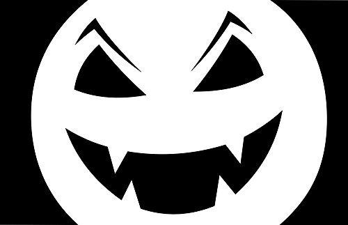 Gifts Delight Laminated 37x24 inches Poster: Carved Halloween Pumpkin Scary Silhouette Spooky Stencil for $<!--$18.99-->