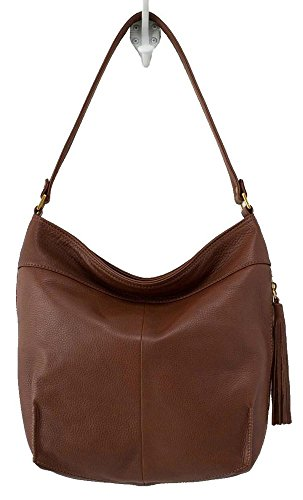 Hobo Handbags Supersoft Leather Raven - Brandy