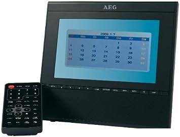 AEG CTV 4910 - Televisor portátil (LCD, 17,8 cm (7 pulgadas), sintonizador DVB-T y VHF, ranura para tarjetas SD, USB 2.0), color negro: Amazon.es: Electrónica