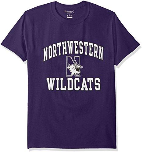 NCAA Northwestern Wildcats Men's Champs Short Sleeve T-Shirt, Large, Purple - Spirit Short Sleeve Jersey