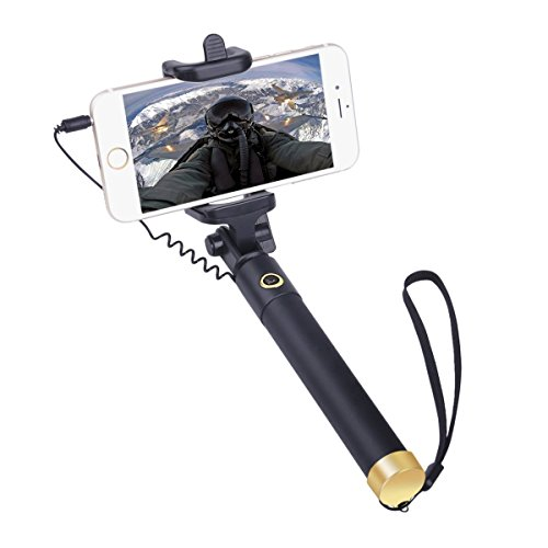 iphone accessories selfie stick wired iphone selfie stick for iphone 6 plus 6s 5s 5 6s plus 4. Black Bedroom Furniture Sets. Home Design Ideas