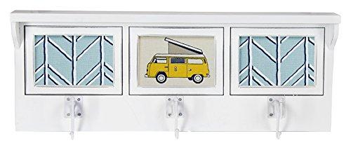 Glenna Jean Happy Camper Photo Hanger Shelf, White