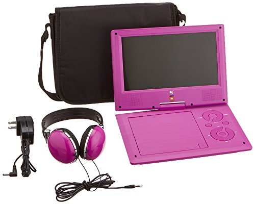Ematic  Portable  DVD Player with JBL Audio, 9-inch Swivel Screen, Headphones and Travel Bag, Purple by Ematic