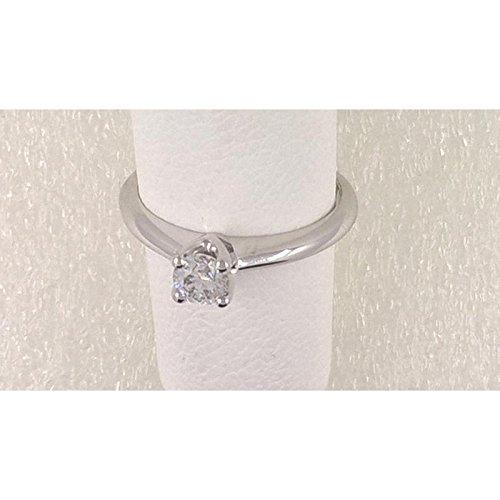 Solitaire artisanale Solitaire quatre embouts sol128or blanc diamant