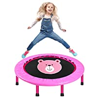 LBLA 38-Inch Kids Trampoline, Mini Trampoline for Kids with Safety Padded Cover, Foldable Trampoline for Kids Exercise & Play Indoor or Outdoor
