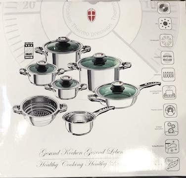 HGW Original Luxus swisser Juego de Olla Acero Inoxidable 12 ...
