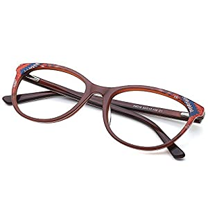 Slocyclub Cateye Eyeglasses Thin Plate Frame Non-prescription Clear Lens Unisex