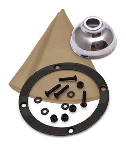 American Shifter 359222 TH400 Shifter 10 Trim Kit BLK Dual Shift Cap TN Boot Ringed Knob for CC044