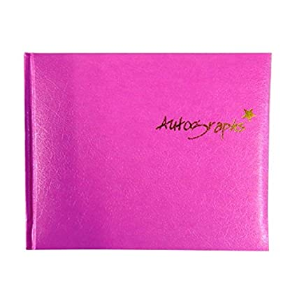 amazon com autograph book pink 120 pages size 4 7 x 5 7