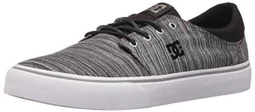 DC Men's Trase Tx Se Skateboarding Shoe, Black/Grey/Grey, 7 M US