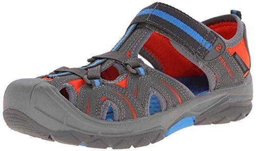 Merrell Hydro Water Sandal (Toddler/Little Kid/Big Kid), Grey/Blue,5 M US Big Kid