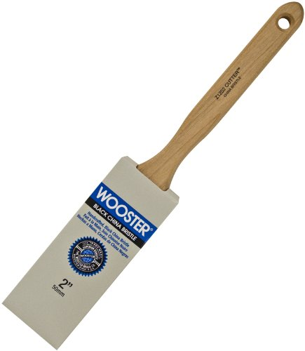 (Wooster Brush Z1202-2 Pro Cutter Z1202 Sash Paint Brush, 12-1/8 in Oal, 2 in Width, Flat Chiseled China Bristle 2)