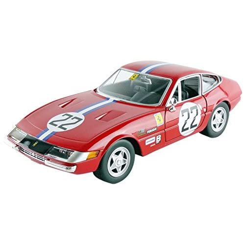 Bburago- 26303R - Ferrari 365 Gtb4 - Daytona Competizione - 1A Série - 1969 - Rouge/Blanc/Bleu -1/24 Echelle