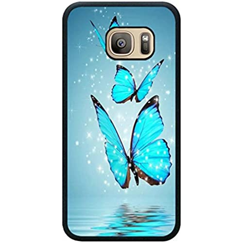 Minffc Unique With Beautiful Blue Butterfly With Stars Animal Protective Case Cover For Samsung Galaxy S7 Sales