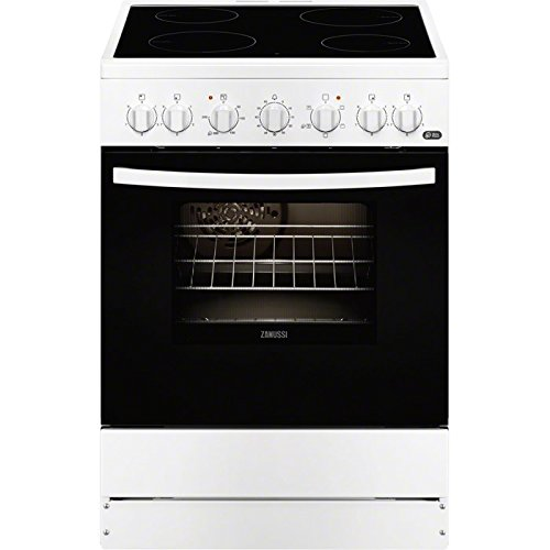 Zanussi ZCV65201WA - Cocina (Independiente, Color blanco, Giratorio, 56L, 1835W, Eléctrico)
