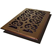 Decor Grates SP610W-RB Scroll Plated Register, 6-Inch by 10-Inch, Rubbed Bronze by Decor Grates