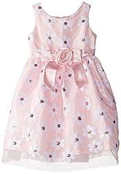 Little Girls Sequins Daisy Mesh Dress