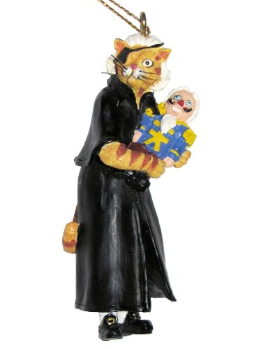 Ertl Collectibles Cat Hall of Fame the Nutcracker Ballet Nuttcatter Herr Drosselmeower Drosselmeyer Christmas Hanging Ornament Figurine - 3.25 Inches Tall