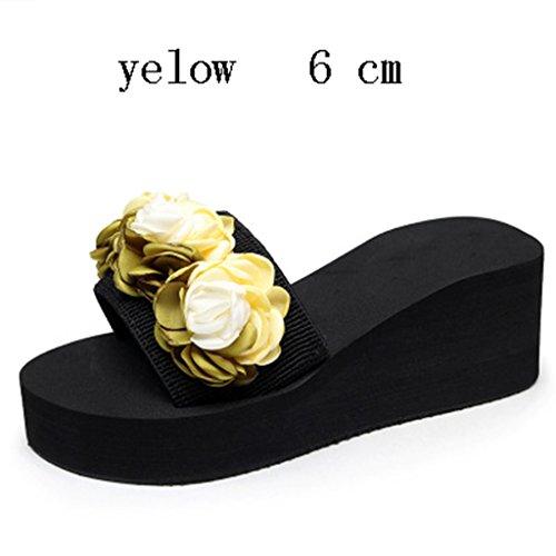 Nouveau 6CM yellow Fleur Flop Slip Le Anti Pantoufle Flip prape aA8Tzqn5