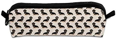 Cute Children Pencil Case Coin Purse Pouch Stationery Pouch Makeup Bag Cute Dachshund Or Doxie Pattern