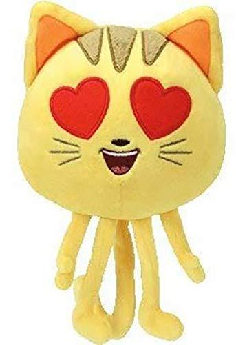 TY Beanie Boos Regular Plush by ADD & Ship (Cat Heart Eye - The Emoji Movie) -