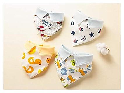 XDXDWEWERT 4 Piezas bebé Lindo bebé Toallas de Saliva Baberos Baberos Drool para bebés (Apto