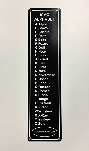 ItsYourAirplane.com, LLC ICAO Phonetic Alphabet Metal Sign