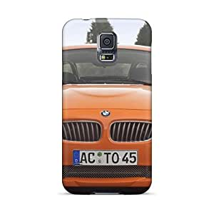 Awesome Orange Bmw Ac Schnitzer V8 Topster Front Flip Cases With Fashion Design For Galaxy S5