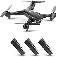 Goolsky VISUO XS809S 2.0MP Wide Angle Camera Wifi FPV Foldable Drone One Key Return Altitude Hold G-sensor Quadcopter w/Two Extra Battery